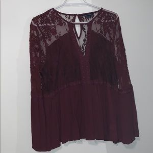 American Eagle Lace Flowy Blouse